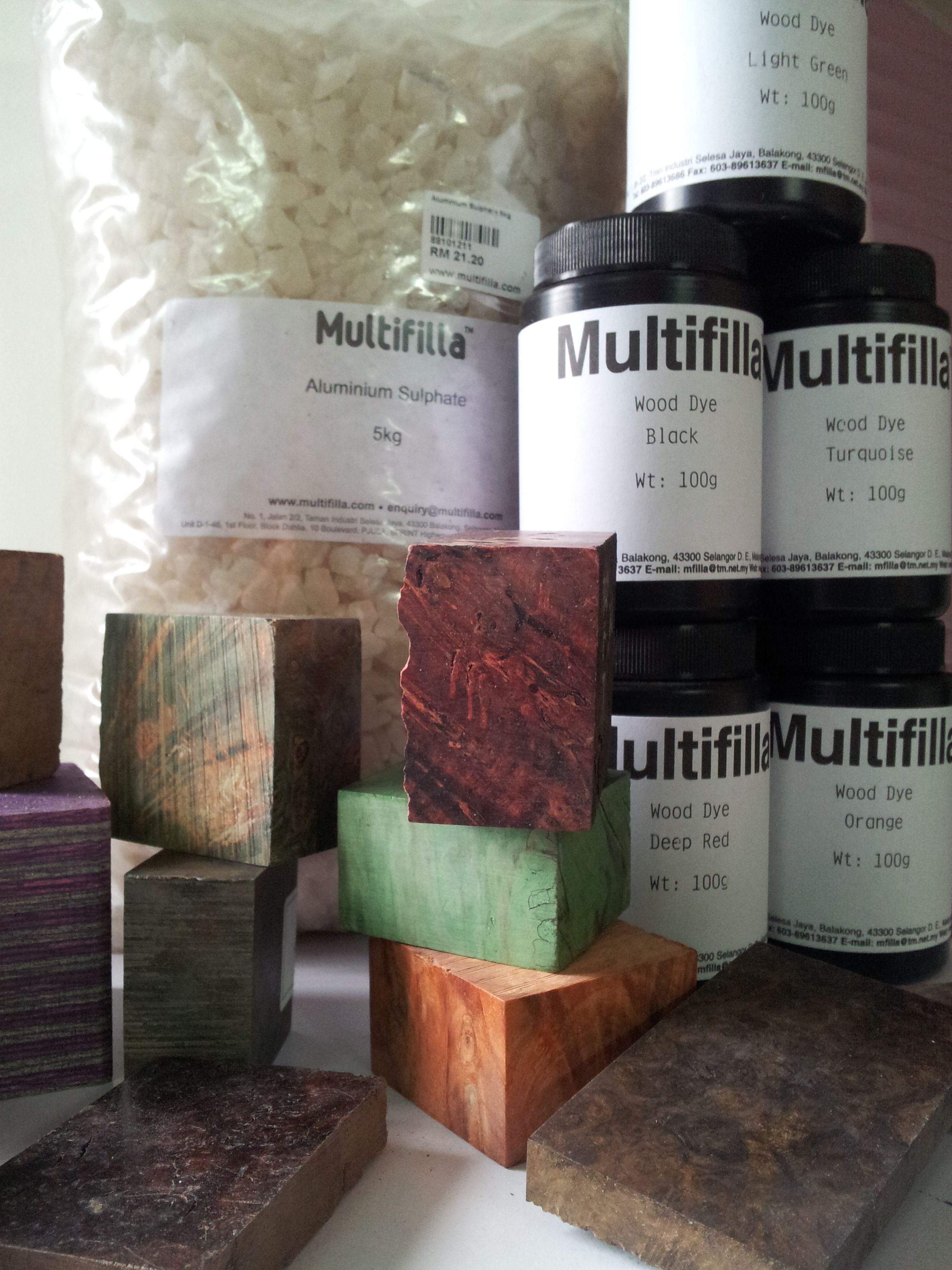 Alum mordant and reactive dyes both affirmative to natural wood ...