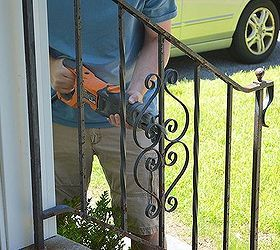 How To Update And Refinish Old Iron Rails With Images Iron