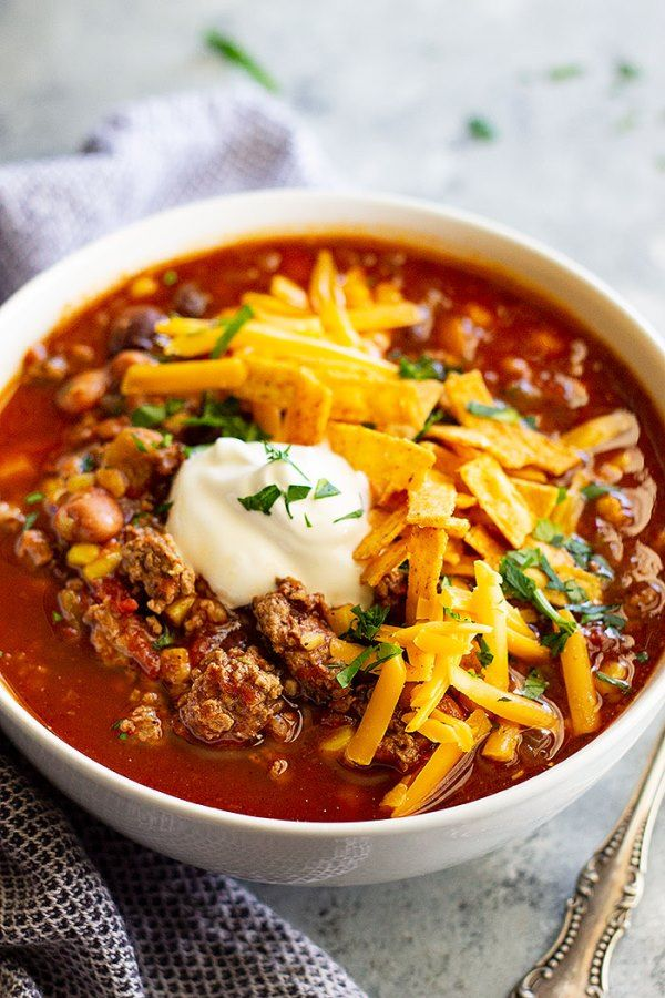 Easy Taco Soup #tacosoup