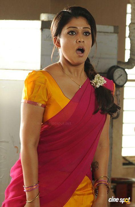 saree Nayanthara hot