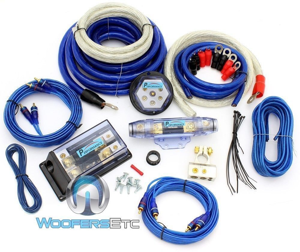 Details About 8000w 0 Gauge 4 Awg 3 Rca 2 Way Power Complete Amplifier Install Wire Amp Kit Amplifier Install Amplifier Rca