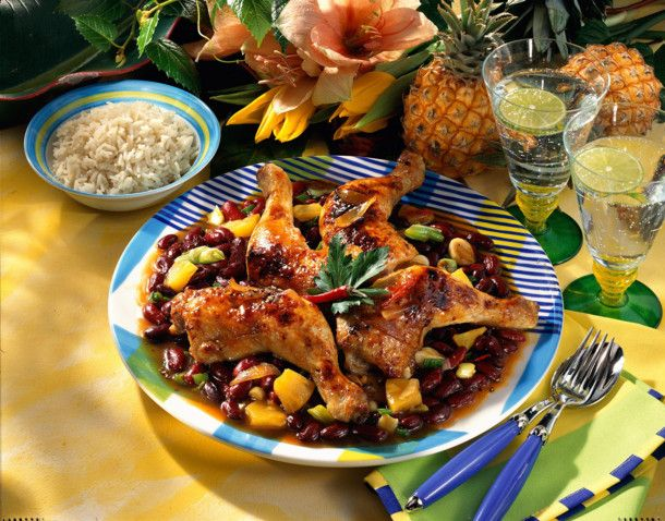 Hähnchenschenkel Barbados Rezept