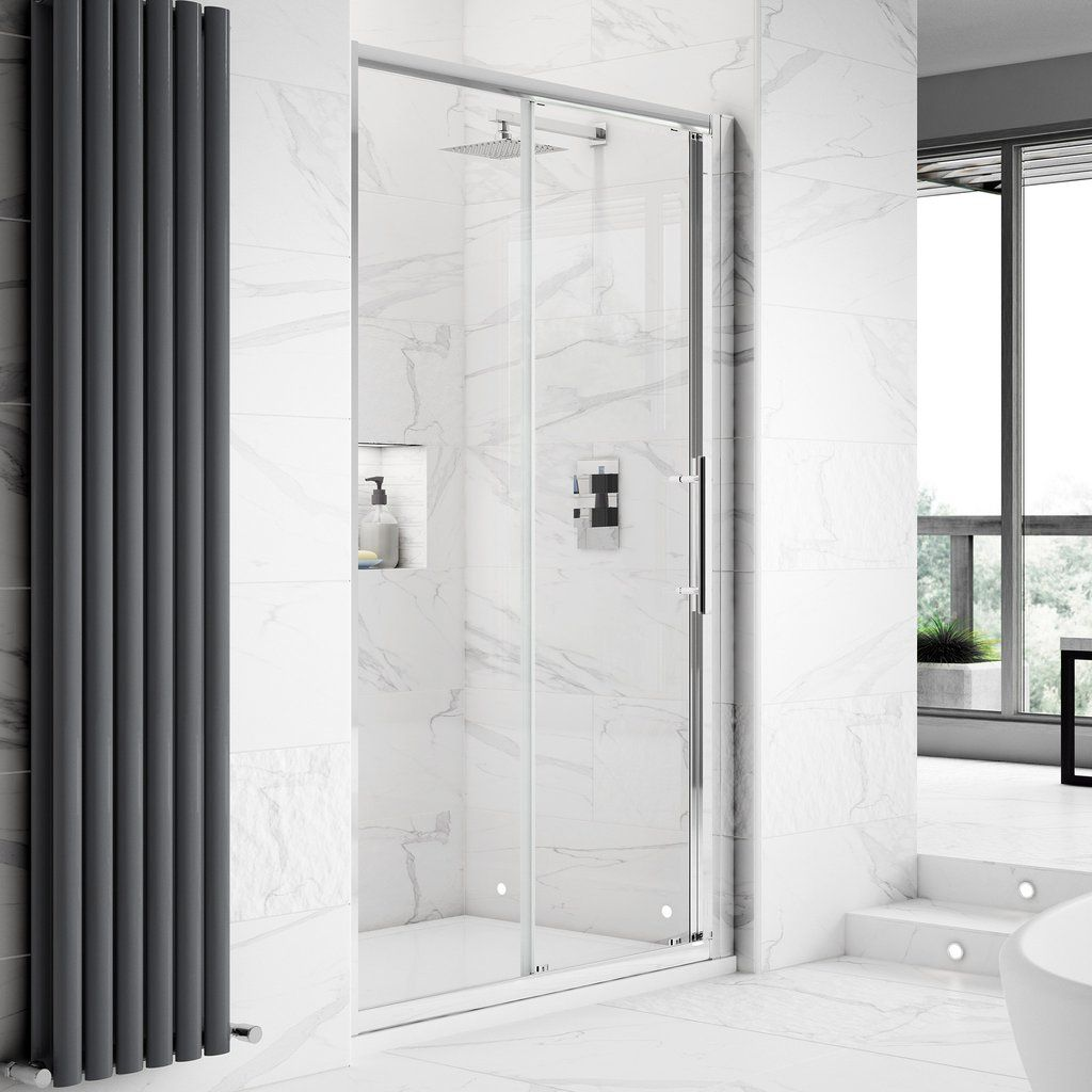 Hudson Reed Apex Sliding Shower Door Without Tray Shower Doors Frameless Sliding Shower Doors Wet Room Screens