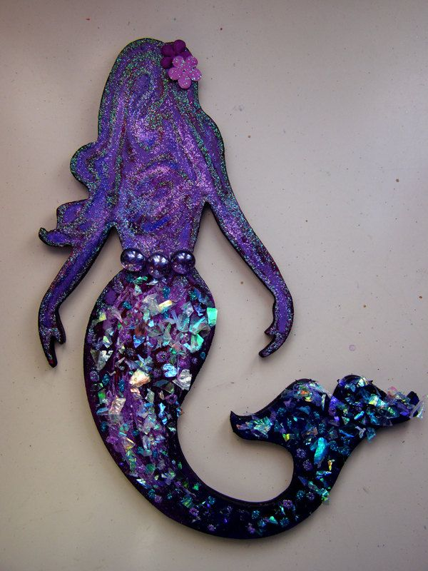 Magical Mermaid Wall Decoration 12 00 Via Etsy