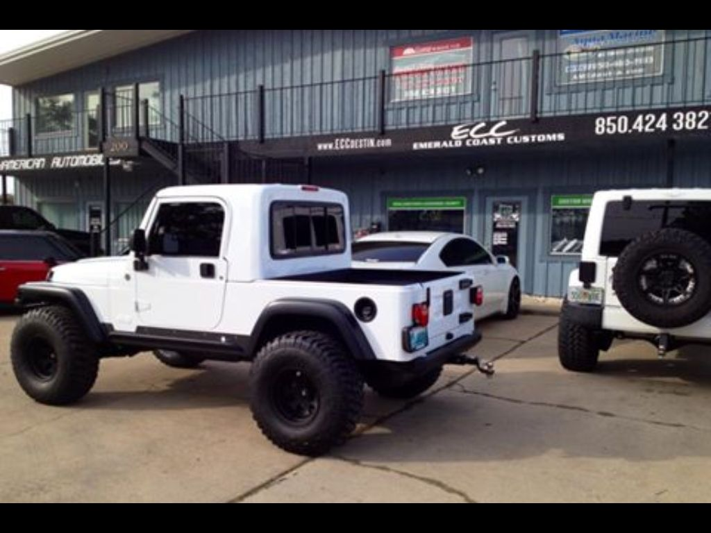 Jeep Rubicon Truck Conversion Gr8top W Pro Comp Wheels Tires Rigid Light Bar Spyder Pers Hid Kit