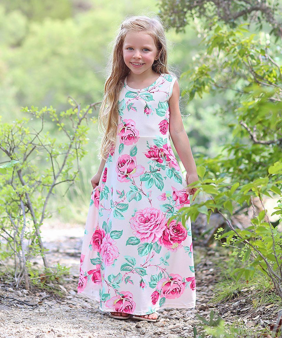 a1b07396e Take a look at this Cream   Pink Floral Maxi Dress - Infant
