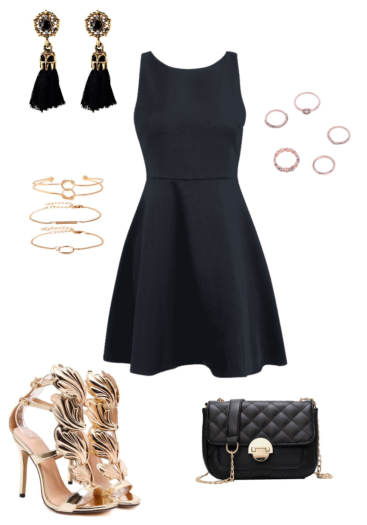 4 59 Rhinestone Heart Design Finger Rings Set Rose Gold Ringsset Rings 22 60 Sleeveless Cross Back Mini Skater Black Dress Dresses Girls Fashion Clothes [ 2000 x 1400 Pixel ]
