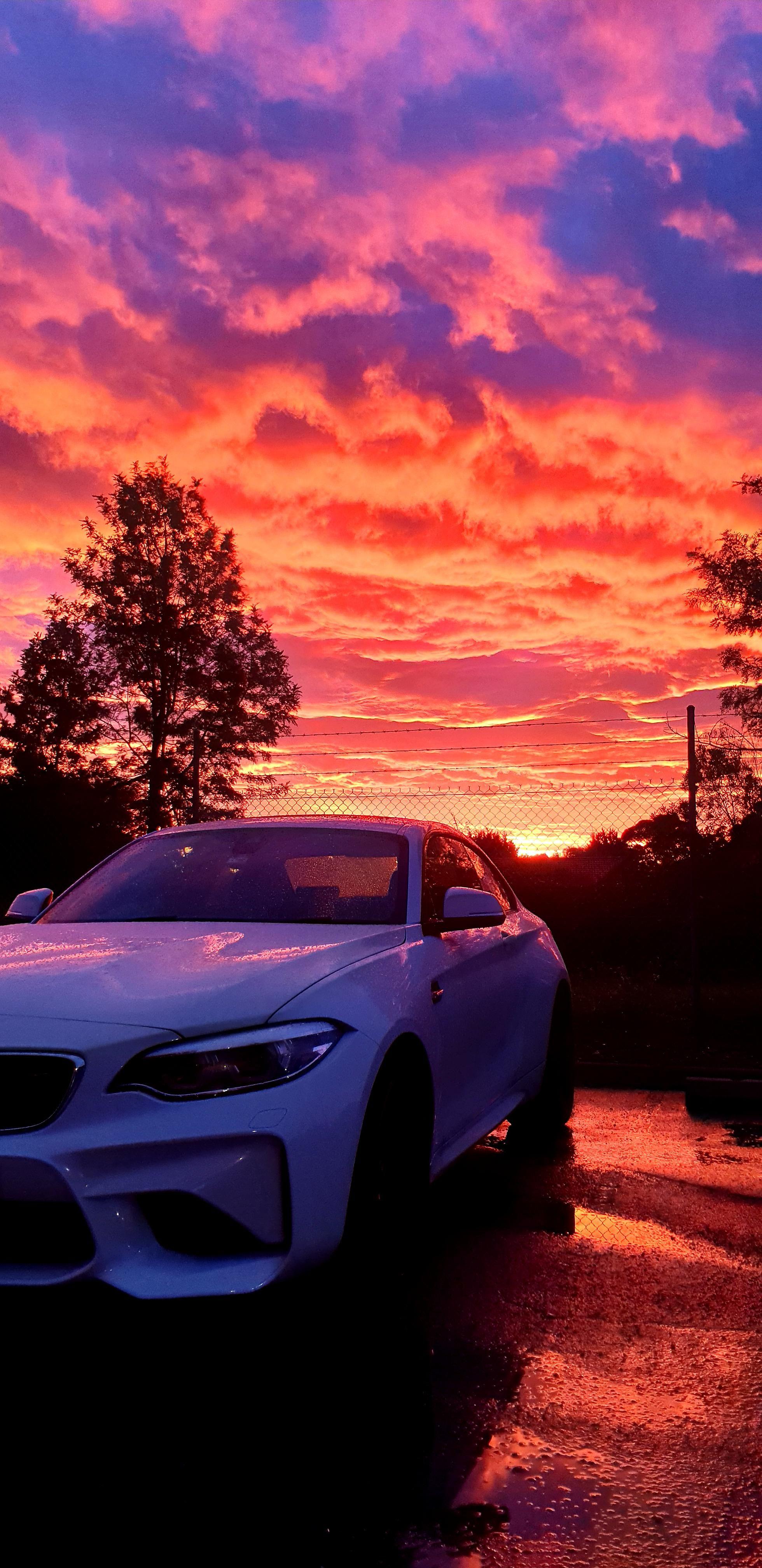 My Bmw M2 F87 Rainy Sunset Bmw M2 Bmw Wallpapers Bmw