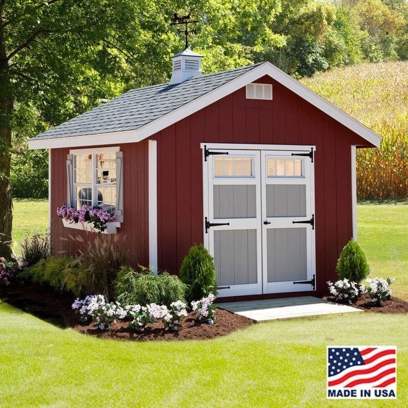 ez fit 10 x 16 homestead wood storage shed kit with floor diy