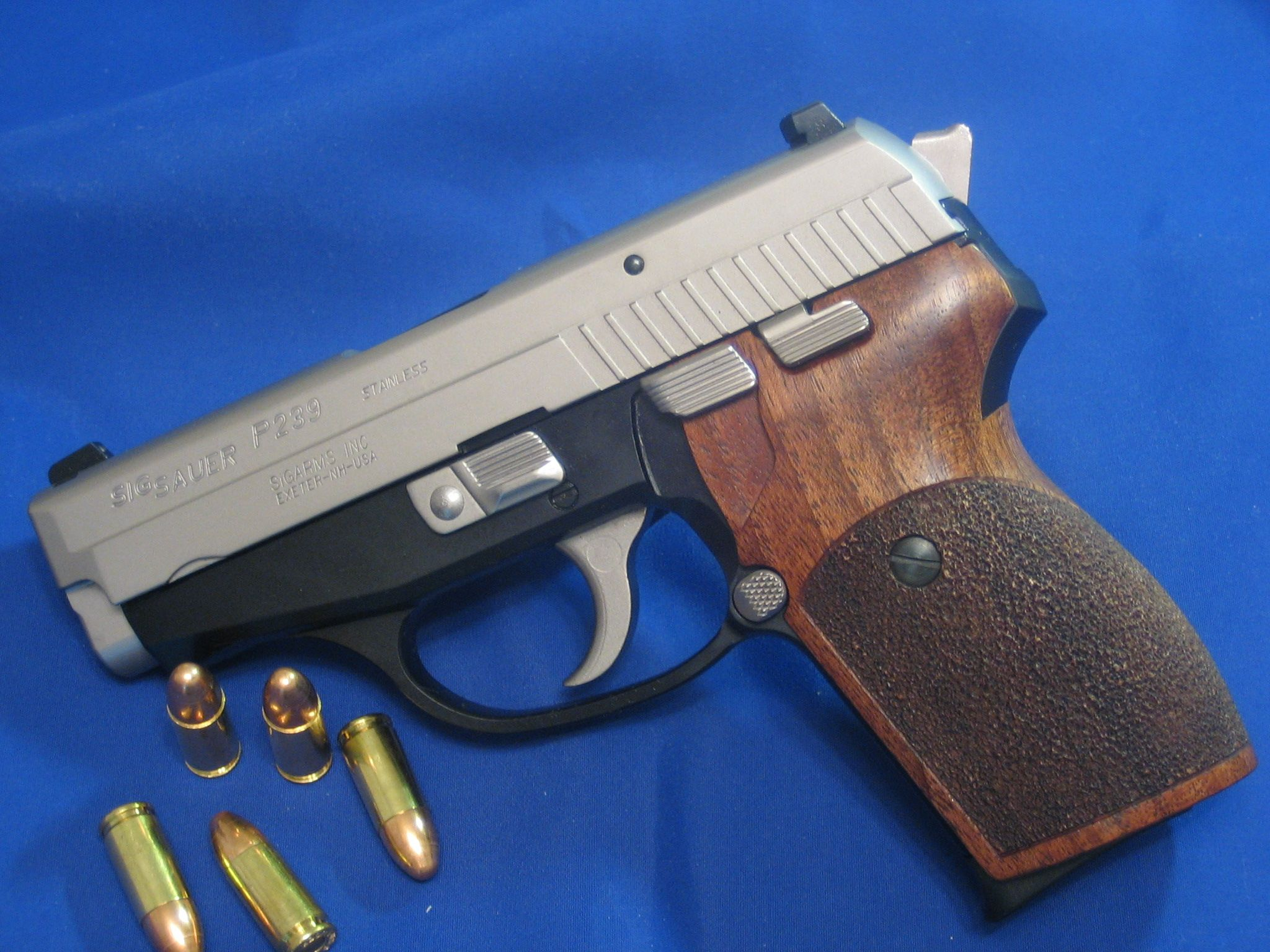 sig p239 wood saur grips pistol grip defense hand grain