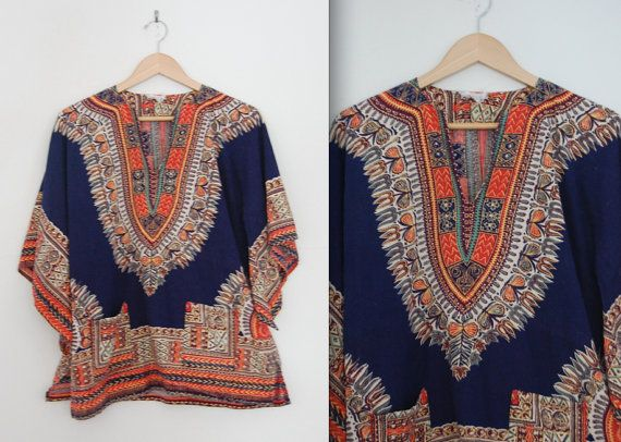 70s oversized dashiki shirt yfpeNcwdti