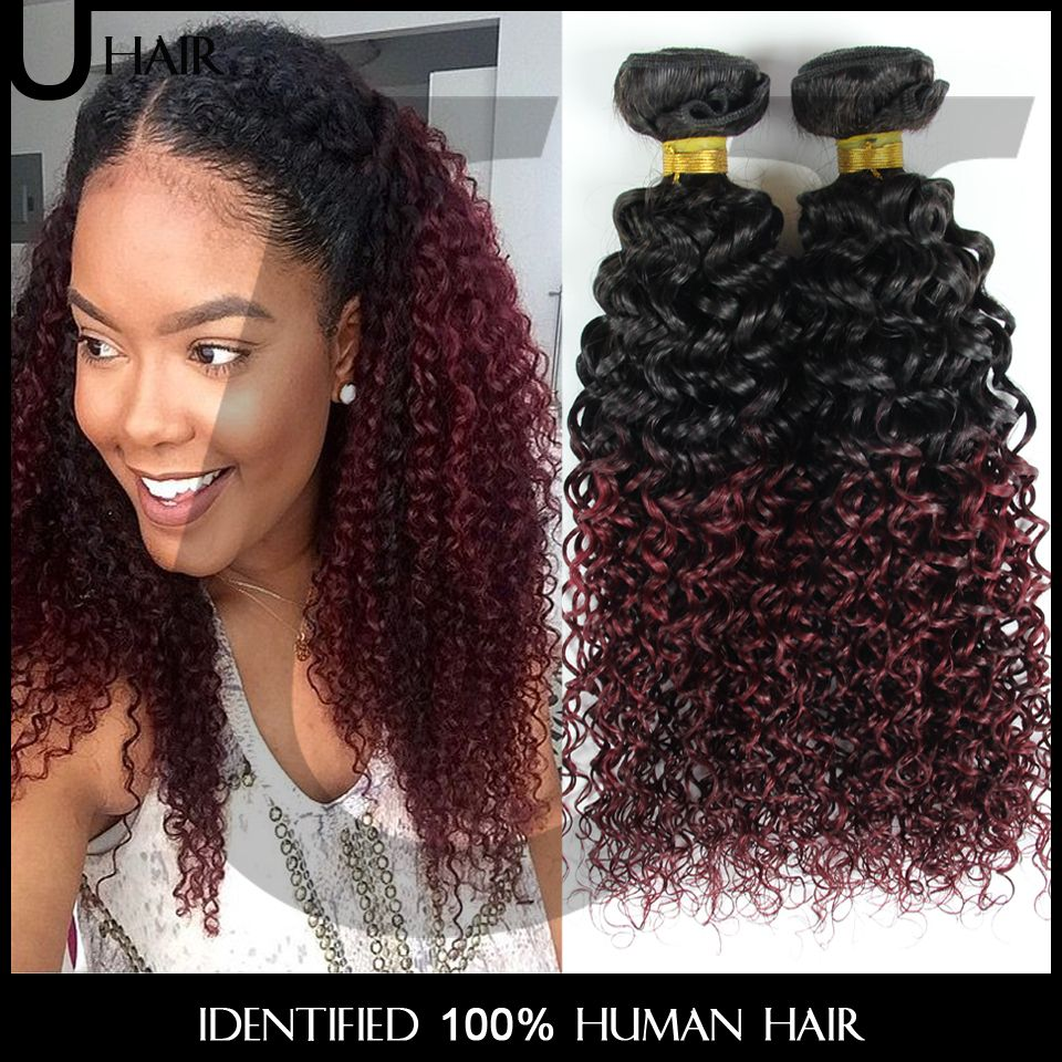 8300 buy here httpsalitemsg brazilian ombre hair extensions ombre curly hair 3pcs wavy ombre remy human hair 10 30 two tone 1bburgundy red wine hair 4jc01 for just 8300 pmusecretfo Image collections