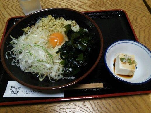 道の駅甲斐大和にて。大和ぶっかけうどんはコシがあって、食べごたえ◎。
