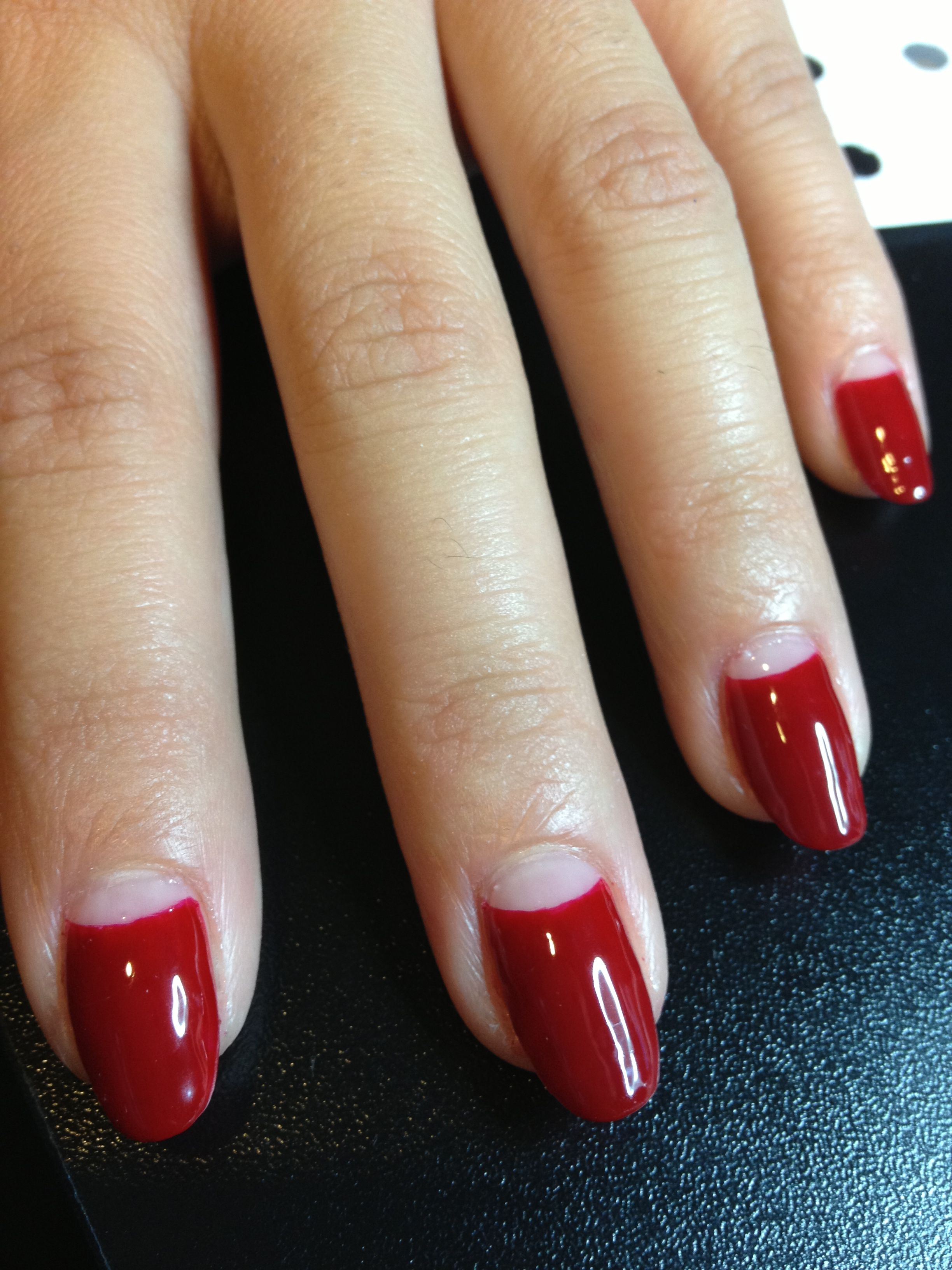 Half Moon Mani Hair And Beauty In 2019 Nail Manicure