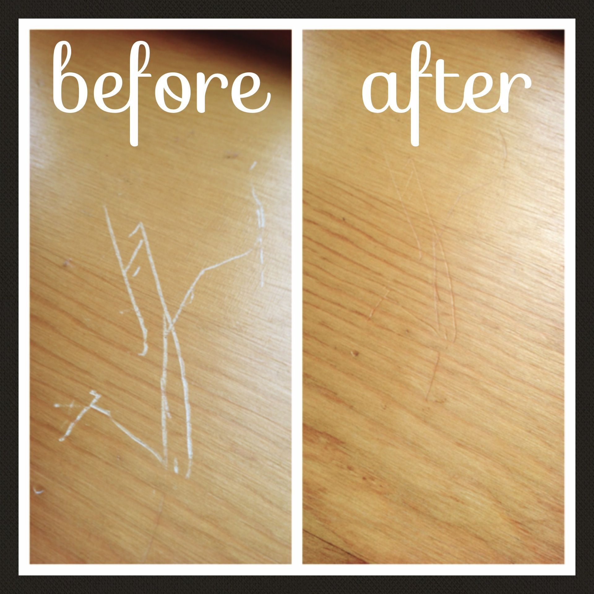 Use A Cashew Almondwalnut To Fix Scratches On Wood I Rubbed The