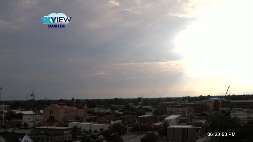 WISTV Skyview of Downtown Sumter