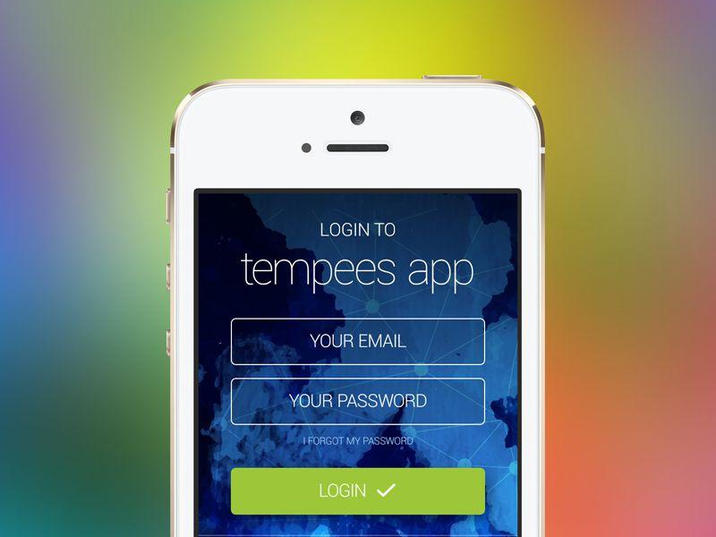Freebie: App Login Screen
