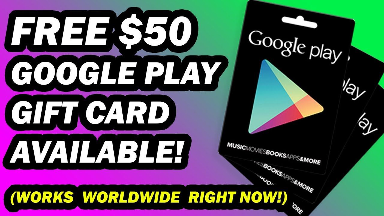 Free google play codes worth 50 working right now