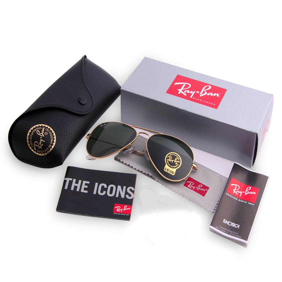 0efe25d880822 Ray-Ban RB3025 L0205 Classic Aviator Gold Frame Green Lens G-15 58mm – US  MART NEW YORK