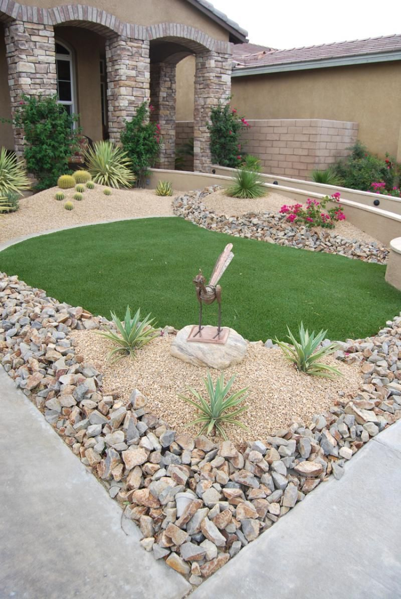49 Modern Small Stone Landscaping Ideas For Your Front Yard