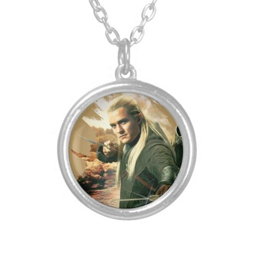 LEGOLAS GREENLEAF™ Graphic 2 Silver Plated Necklace ...