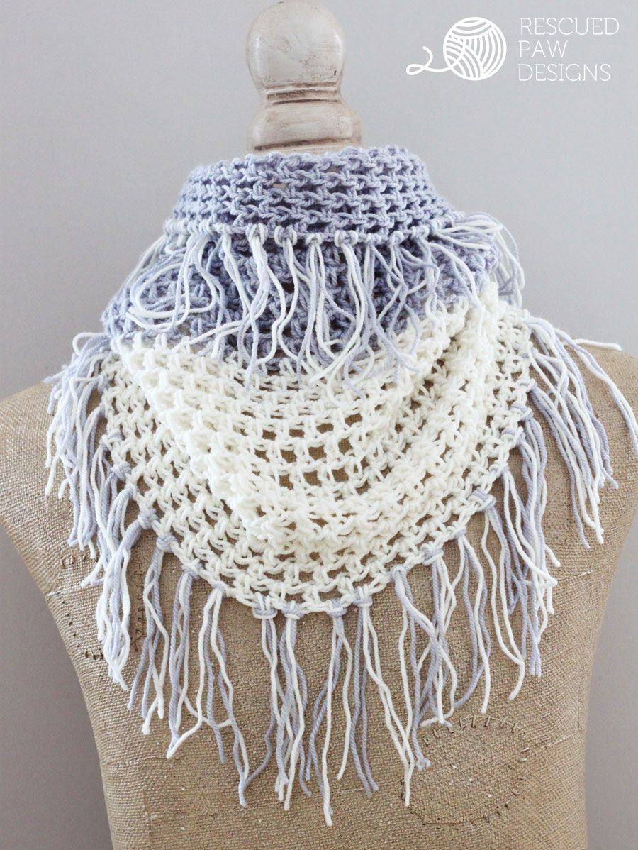 Gracelyn Crochet Cowl Fringe Pattern | crochet | Pinterest | Croché ...