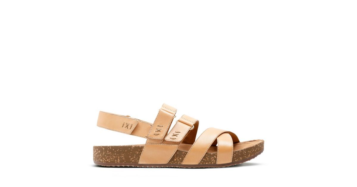 2dc91f0a5e6e Rosilla Keene Light Tan Leather - Womens Flat Sandals - Clarks® Shoes  Official Site