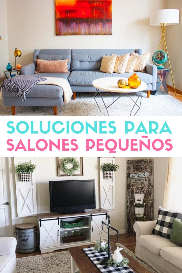 ▷ Soluciones para salones pequeños. Decoración de espacios