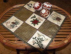 Úžitkový textil - Vianočný obrúsok - 4648877_