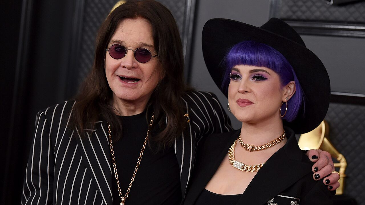 Ozzy Osbourne attends 2020 Grammys red carpet with a cane