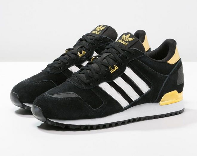 Adidas Originals ZX 700 Baskets basses core black/white/gold prix promo  Baskets femme