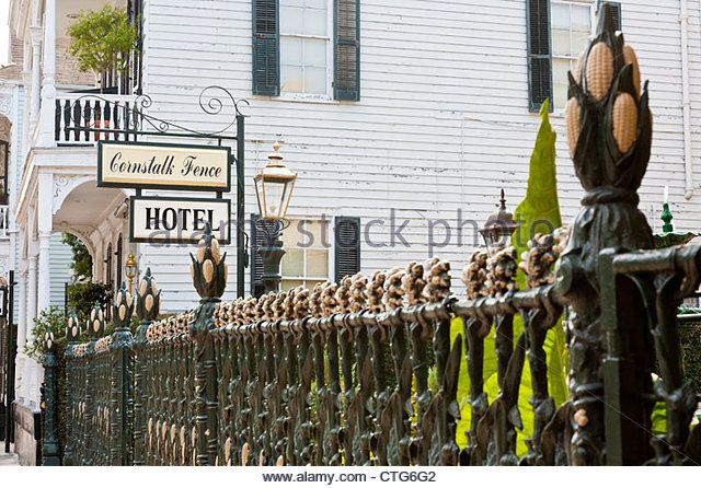 Wrought Iron Fence At Cornstalk Fence Hotel On Royal Street In The