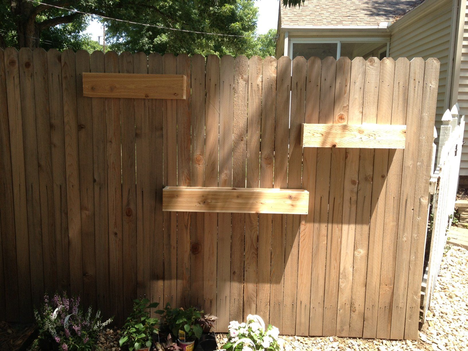 Furniture unfinished diy fence mounted garden planter boxes in the side yard house ideas wood garden box