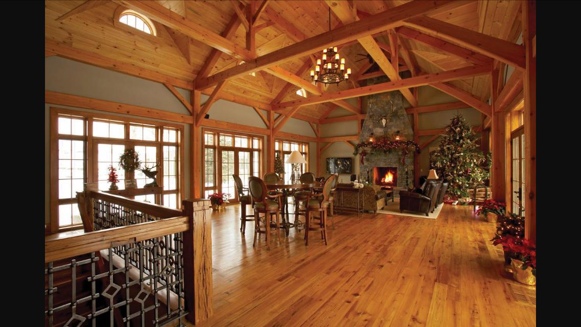 Hillside Timber Cottage - Timber Frame Home Loft