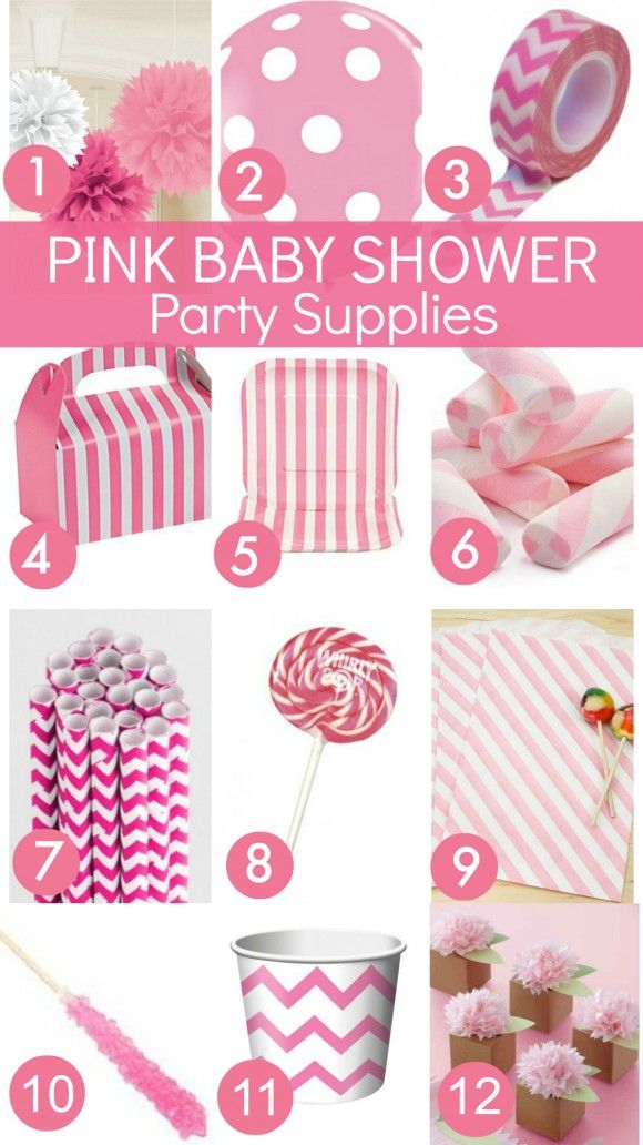 Pink Baby Shower Ideas Baby Shower Party Supplies Party Stores