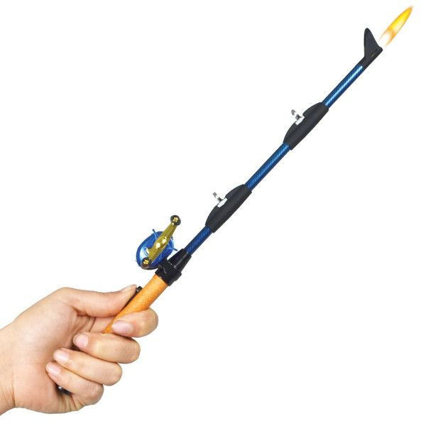 "The Bait Cast Fishing Pole BBQ Lighter looks just like the real thing just in miniature. They are numbered and collectible. They come in your choice of 4 colors, blue, green, red and silver. As with all ""Another Gibson Original"" the BBQ Lighters are of the highest quality, child resistant, and refillable for years of use."