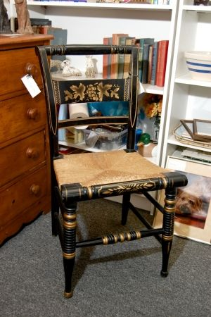Signed Hitchcock Chair One Of Four At Antiques At Gresham Lake