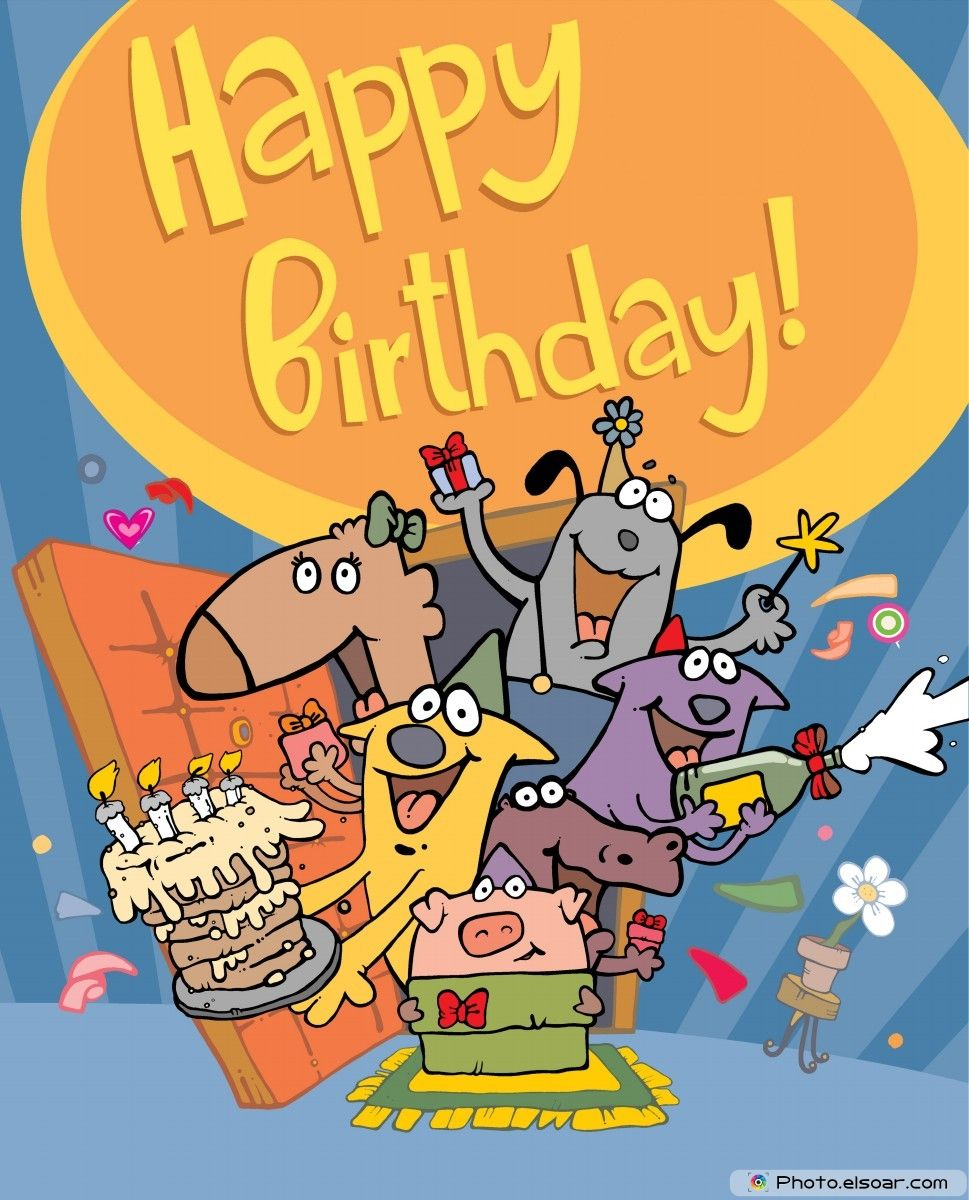Happy birthday card with funny characters disney comic birthday happy birthday card with funny characters bookmarktalkfo Choice Image