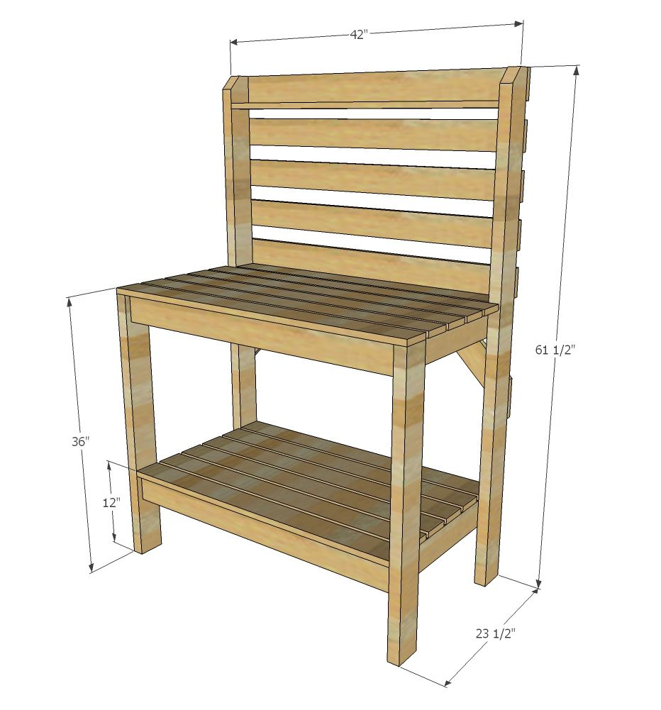 Simple 2x4 Potting Bench Potting Bench Plans Potting Benches Diy Outdoor Potting Bench
