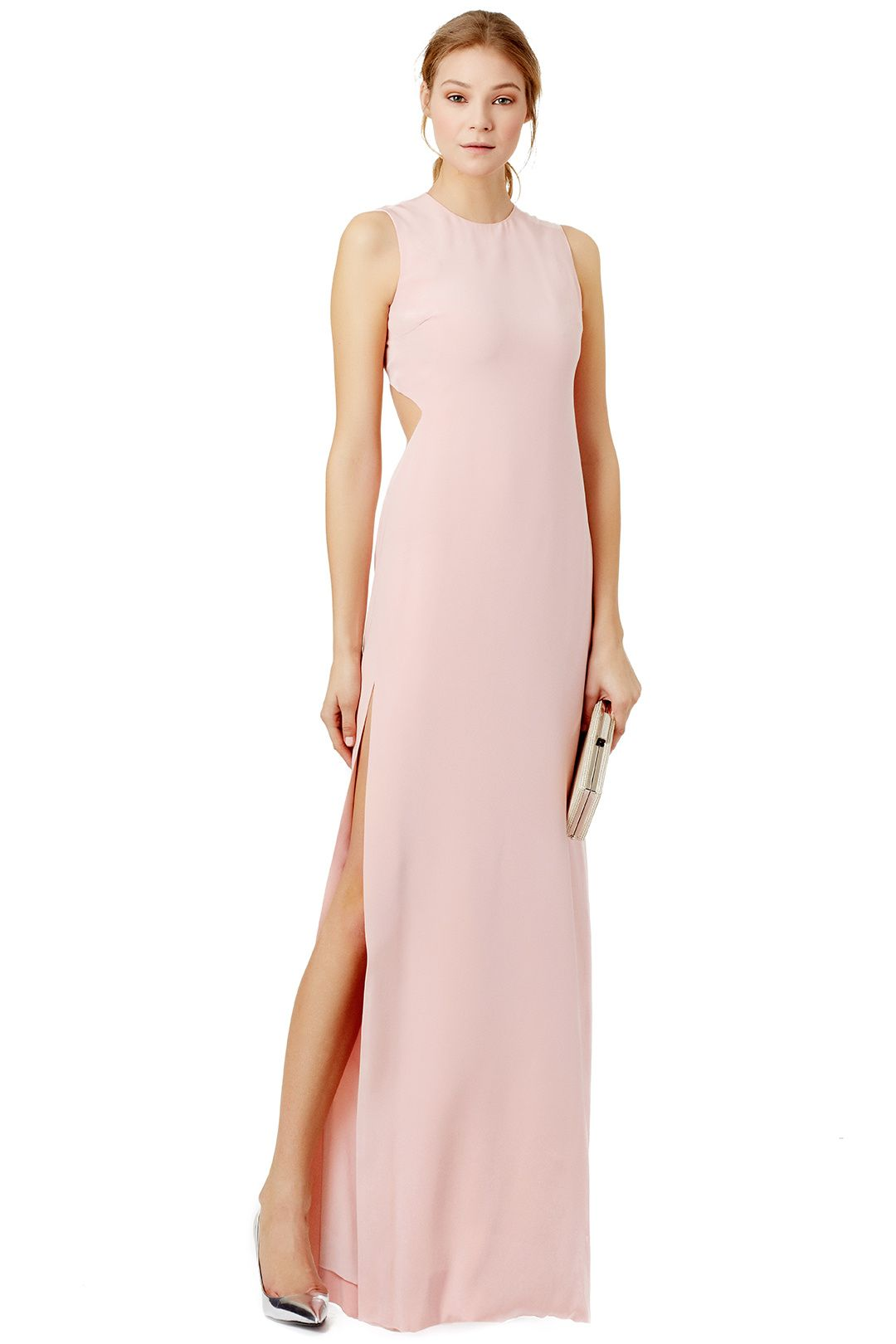 Parisienne gown halston heritage pink gowns and gowns light pink gown with sleek back cut outs parisienne gown by halston heritage ombrellifo Images