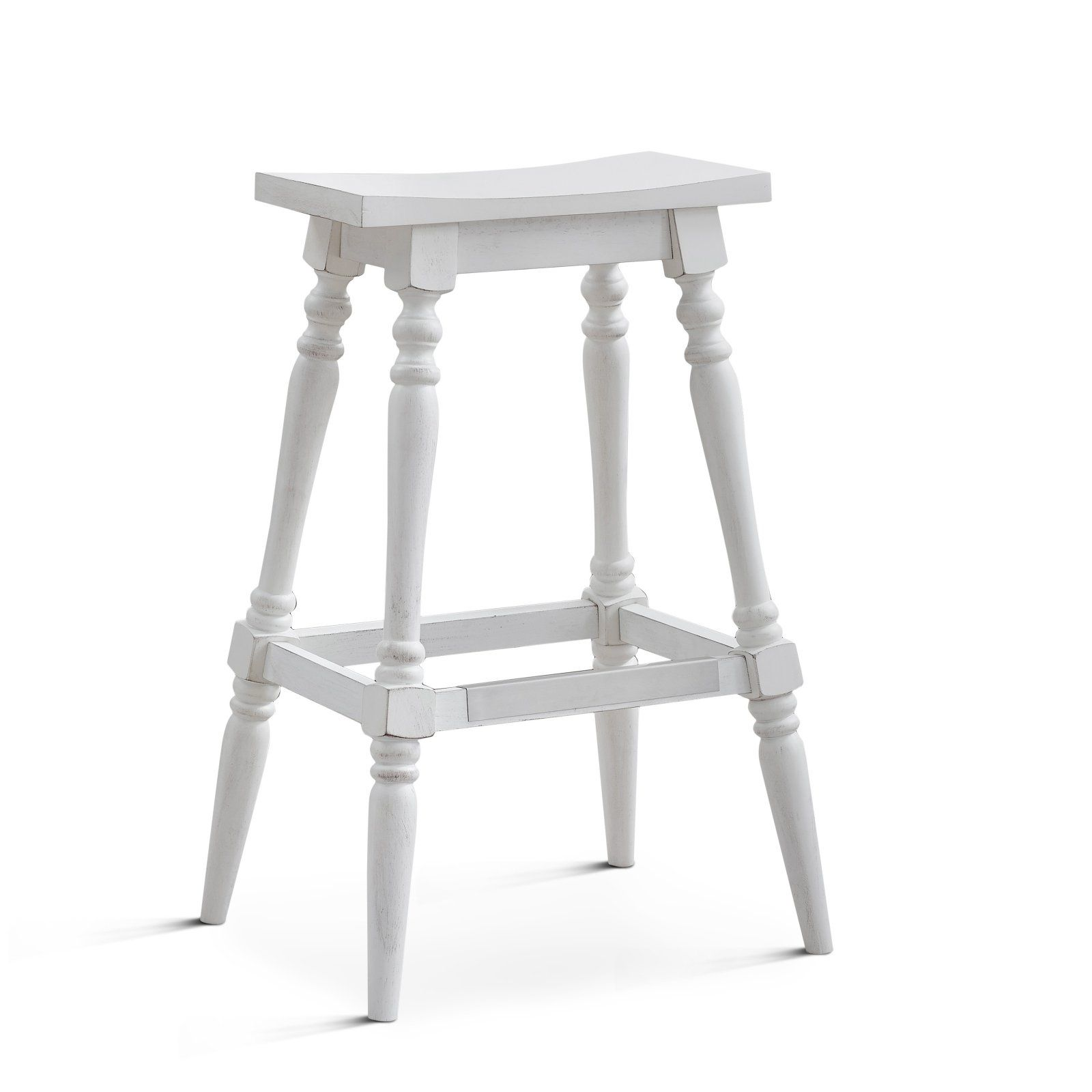 American Woodcrafters Yara 30 In Backless Saddle Bar Stool Counter Stools Backless Bar Stools