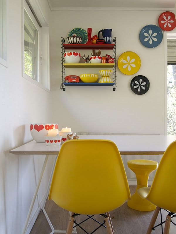 Oh So Lovely Vintage Interior inspiration Pops of color