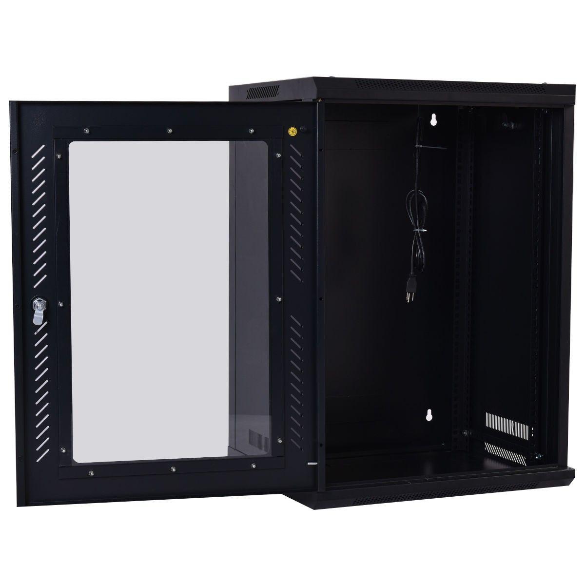 18u Wall Mount Network Server Data Cabinet W Fan Server Cabinet Data Cabinet Server Rack