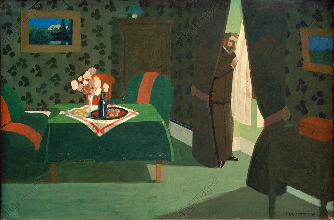 Akg639533 Vallotton Felix 1865 1925 L Attente Expectation 1899 Tempera On Card 35 50cm C Akg Images Royal Academy Of Arts Felix Postcard Art