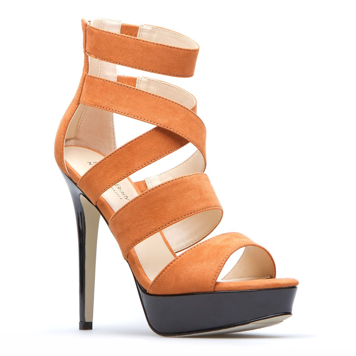 high-heel sandal funky enough for me and great color to cheer on the Texas Longhorns...!!!  lol
