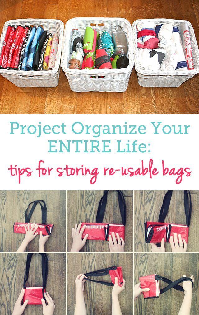 How Organize Reusable Bags Organization