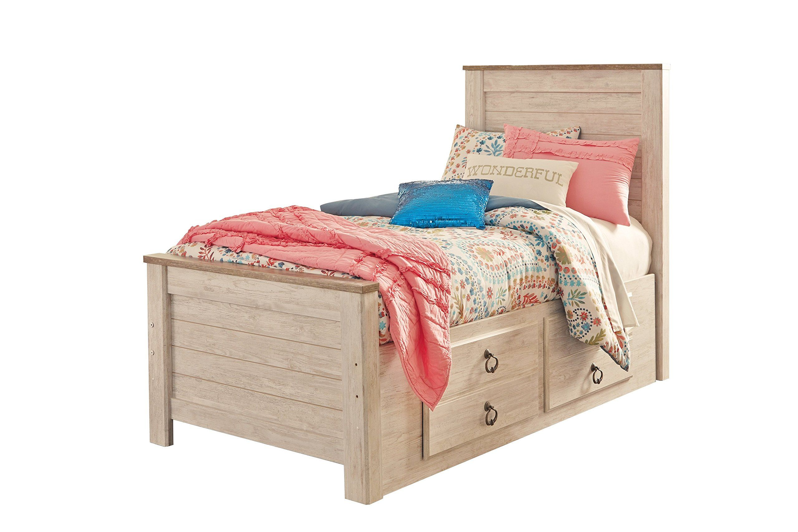 Ashley Willowton 5PC Twin Storage Bedroom Set Chest In
