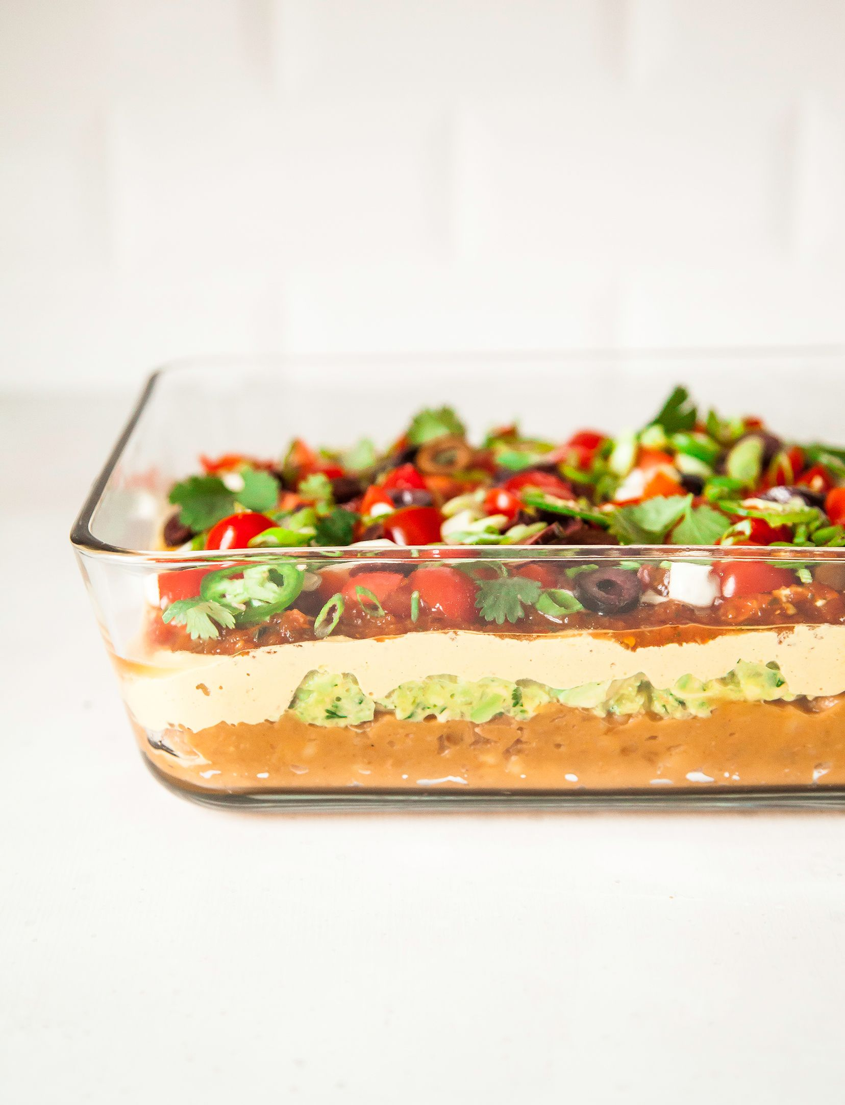Vegan Seven Layer Dip With Buffalo Refried Beans Good Food