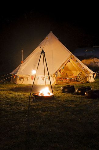 16 Splendid Places To Glamp In Britain This Summer Campsite Bell Tent Camping Best