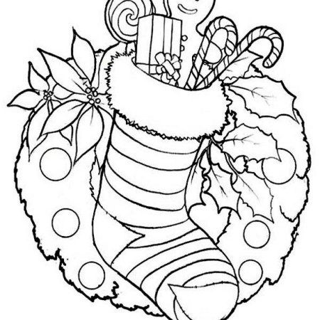 Christmas Stocking Coloring Pages For Kids